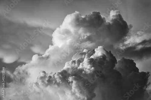 dramatic cloudscape at sunset Poster
