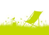 Summer Meadow Canvas Chair Banner - 152355989