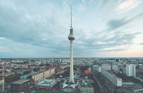 Berlin skyline with TV tower at Alexanderplatz in twilight, Germany © JFL Photography