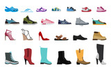Collection Men's, Women's and children's footwear. Stylish and fashionable shoes, sandals and boots. - 152376187