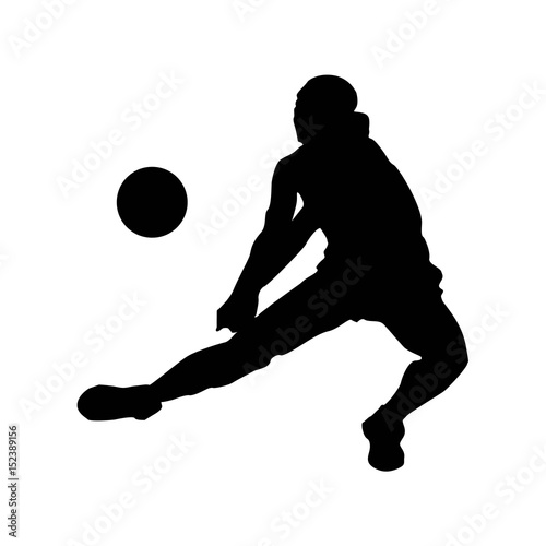 Illustration of abstract volleyball player silhouette
