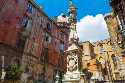 A Square In Naples, Italy