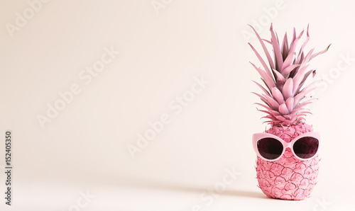 Painted pink pineapple with sunglasses - 152405350