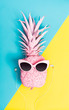 Painted pineapple with sunglasses - 152405511