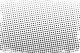 Halftone dots. Monochrome vector texture background for prepress, DTP, comics, poster. Pop art style template