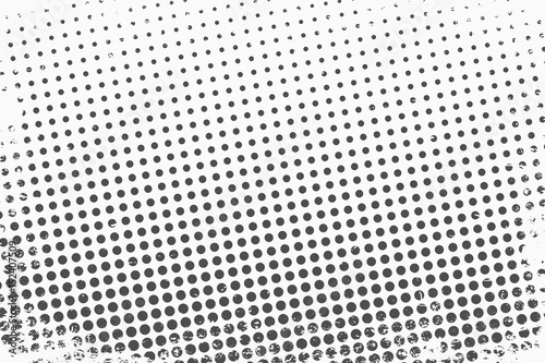 Halftone dots. Monochrome vector texture background for prepress, DTP, comics, poster. Pop art style template © Yevhenii