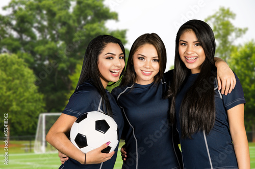 Soccer Team At The Field