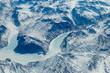 Aerial View of a Frozen Landscape
