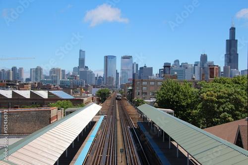 Fotobehang Chicago Green Line