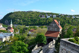 Budapest - Collina di Gellert vista dalla Collina di Várhegy e Cattedrale ortodossa