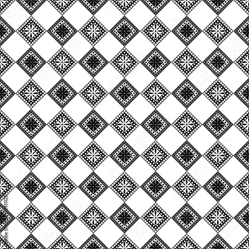 Seamless vector decorative hand drawn pattern. ethnic endless background with ornamental decorative elements with traditional etnic motives, tribal geometric figures. Print for wrapping, background - 152451128