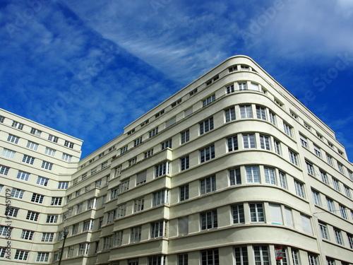 Brüssel: 1930er Jahre, Architektur, Moderne, Art-Deco-Haus плакат