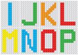 Bricks alphabet set, letters : I J K L M N O P  / vector illustration - 152465157