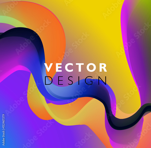 Abstract smooth wave motion illustration © striZh