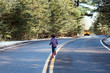 child running after bus