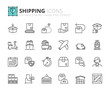 Outline icons about shipping - 152491357