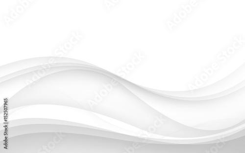 Streszczenie białe fale - koncepcja strumienia danych. Ilustracji wektorowych