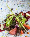 Salad with quail liver - 152533713