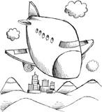 Doodle Aircraft Vector Art