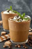 Milkshake with coffee and ice cream