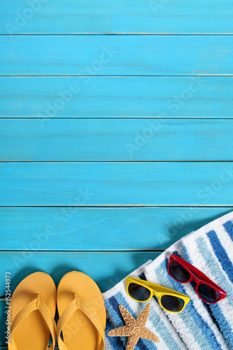 Summer beach background border