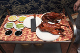 Table with peking duck