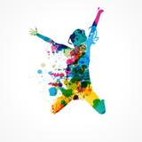 silhouette femme colorée - 152560161