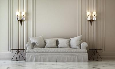 The luxury living room interior design