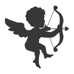 cupid love valentine vector icon illustration graphic design