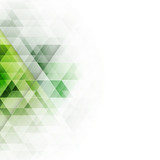 Abstract green triangles geometric background. Vector illustration.