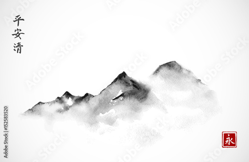 mountains-in-fog-hand-drawn-with-ink-in-minimalist-style-on-white-background-traditional-oriental-ink-painting-sumi-e-u-sin-go-hua-hieroglyphs-eternity-spirit-peace-clarity
