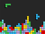 Fototapety Game Tetris pixel bricks. Colorfull Game background