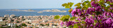 Panorama of Marseille city in south of France