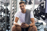 Healthy guy at gym - 152605392