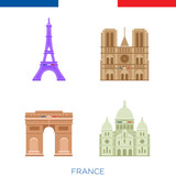 Sights of france, icons