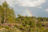 Landscape with a rainbow. Turkey