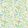Stylish organic background. Seamless pattern.Vector. スタイリッシュ植物パターン