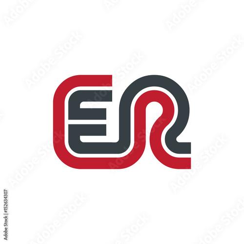 Initial Letter ER Linked Design Logo