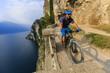 Quadro Mountain biking on Lake Garda, Sentiero della Ponale, Riva del Garda, Italy