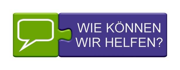 Puzzle Button zeigt Wie können wir helfen?