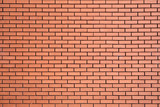 Modern new large red brick wall background
