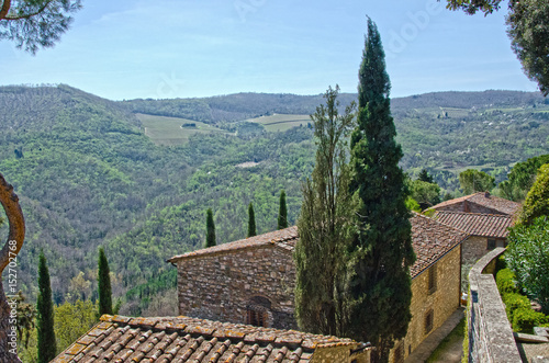 Overlooking the Greve Valley in Chianti Poster
