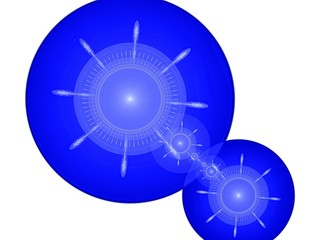 Blue balls and stars