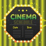 movie poster event for festival event, banner, brochure, flyer, template with date and place space. vector illustration