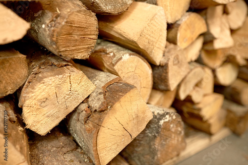 close up of firewood Poster