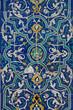 Quadro asian old ceramic mosaic. elements of oriental ornament on ceramic tiles