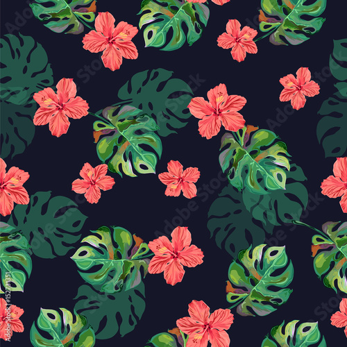 Seamless tropical vector illustration.