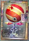 Seameless and steampunk magic mushroom-flower