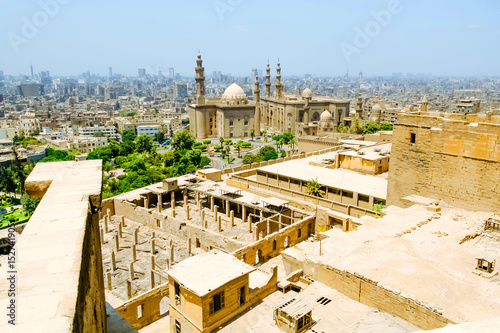 Poster View of The Mosque-Madrassa of Sultan Hassan located near the Saladin Citadel in Cairo, Egypt
