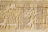 Egyptian hieroglyph. Hieroglyphic carvings on a wall. Wadi es-Sebua temple. Egypt